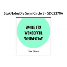Small semi circle sticky note