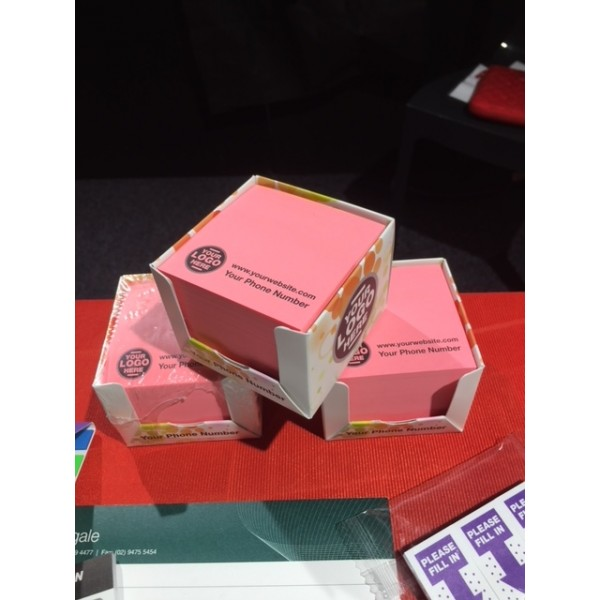 Customised Sticky Notes Cubes in Boxes