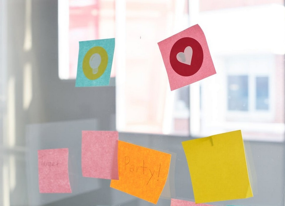 Promotional Sticky Notes in the Office