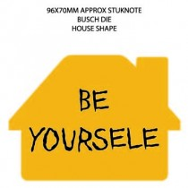 Promotional House Shaped Sticky Note with Chimney