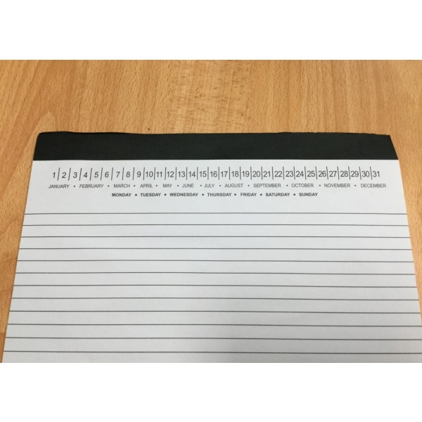 A3 Notepads with a 1 colour print