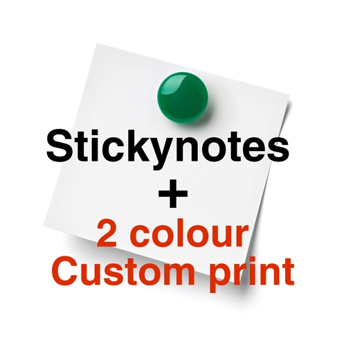 Sticky Notes with a 2 Colour Custom Print
