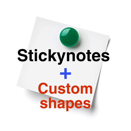 Sticky Notes in a Unique Shape